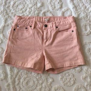 J. Crew Pink jean shorts